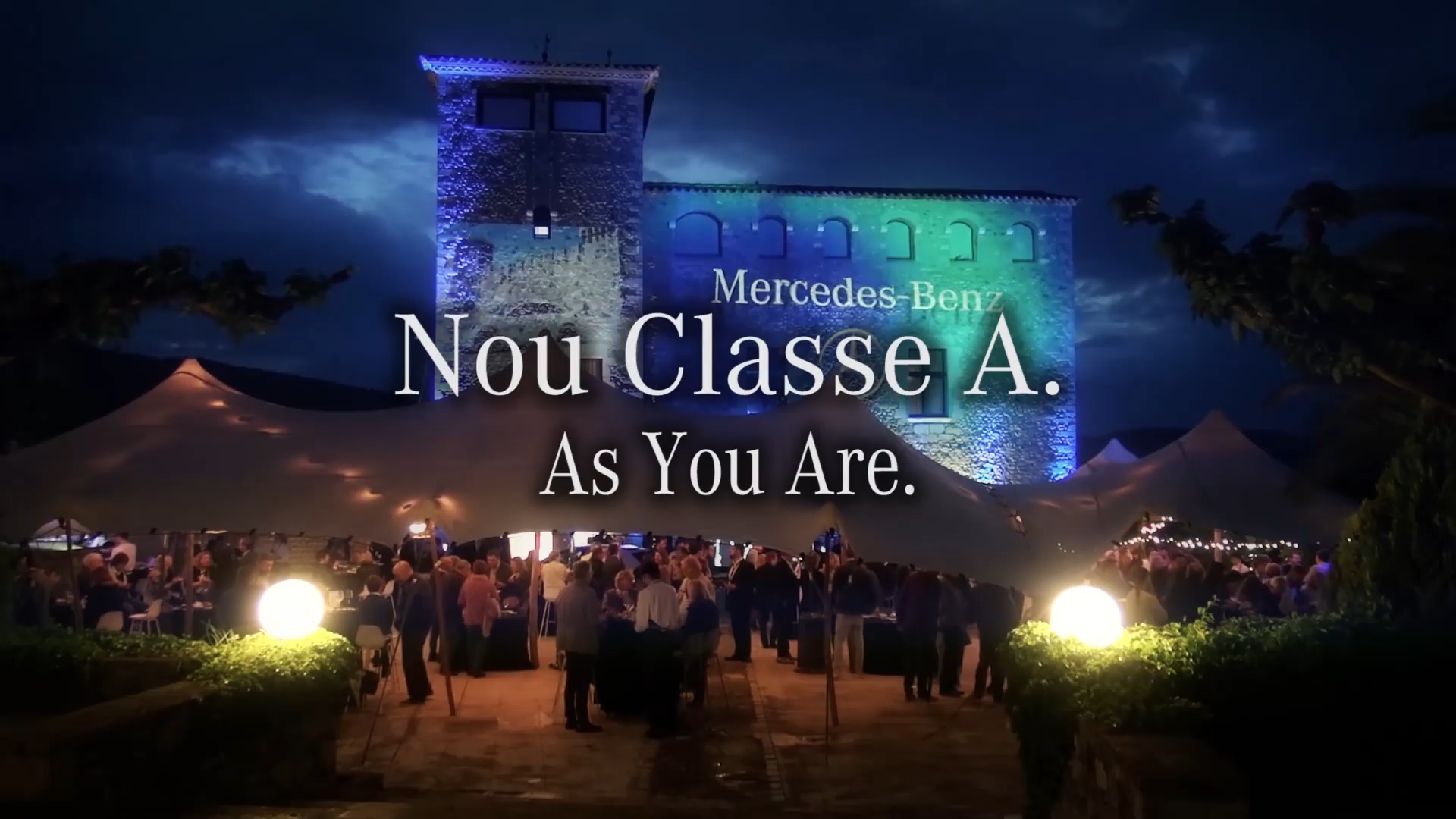 Video mapping esdeveniment Mercedes Benz new Clase A
