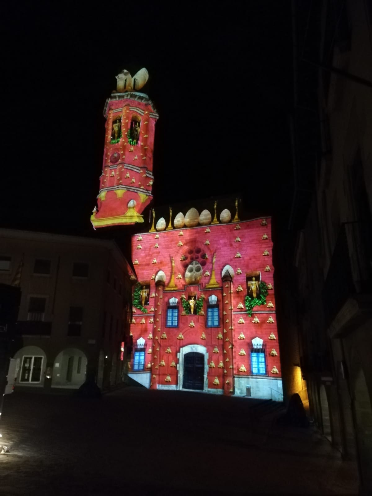 Vídeo mapping Calaf 2019